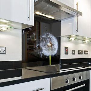 Kuchenruckwand Spritzschutz Kuche Gehartetes Glas Ruckwand Blume