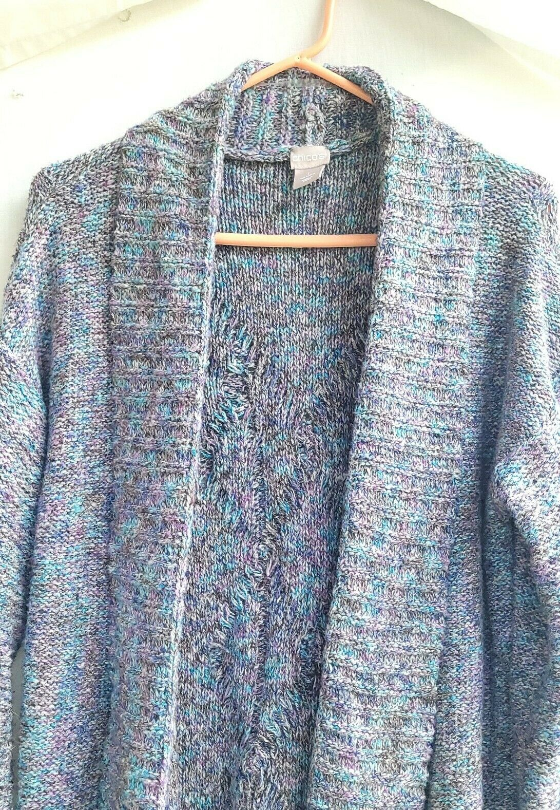 Chico's Chunky Knit Textured Sweater Open Front S… - image 4