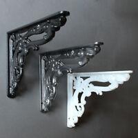 "8x6"" ANTIQUE CAST IRON VICTORIAN SHELF CISTERN BRACKET BLACK WHITE PEWTER BR07"