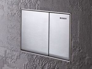 geberit omega 60 zinc dual flush plate matt brushed chrome ebay. Black Bedroom Furniture Sets. Home Design Ideas
