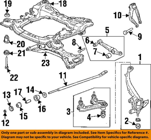 HONDA OEM Front Suspension-Engine Cradle Upper Insulator 50231S3VA01