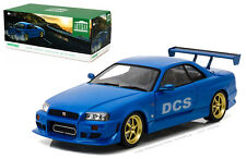 GREENLIGHT 1999 NISSAN SKYLINE GT-R (R34) BAYSIDE BLUE 1/18 DIECAST CAR 19032