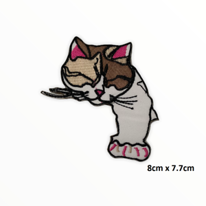 Cute Sleepy Cat Disney Embroidered Iron On Sew On Patch Badge For Clothes etc