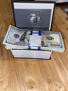 Book Safe Piggy Bank Cash Coin Money Dollar Yen Euro Amex Key x2 Set Lot NEW NR
