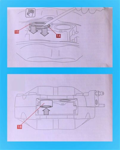 DUCATI 916 CALIPER PISTON SEAL KIT //GREASE//BREMBO LEGAL DOCUMENT//INSTRUCTIONS