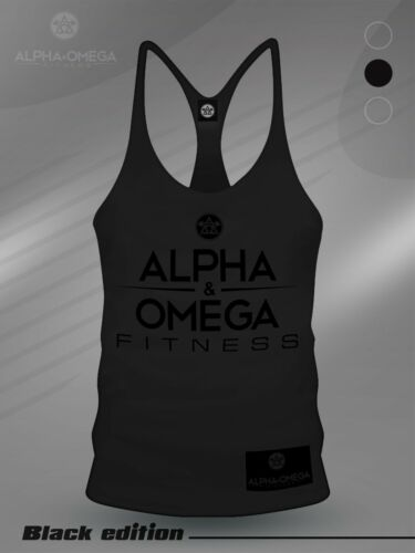 AAO Fitness Black Edition V3 Fitness Workout Training Gym Muscle Vest Stringer
