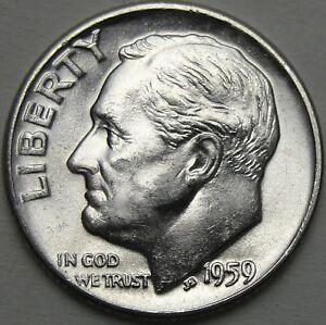 Uncirculated a D Roosevelt Dime 1959