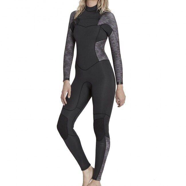 BILLABONG Women's 3 2 SYNERGY CZ Wetsuit - BLK - Size 0 - NWT