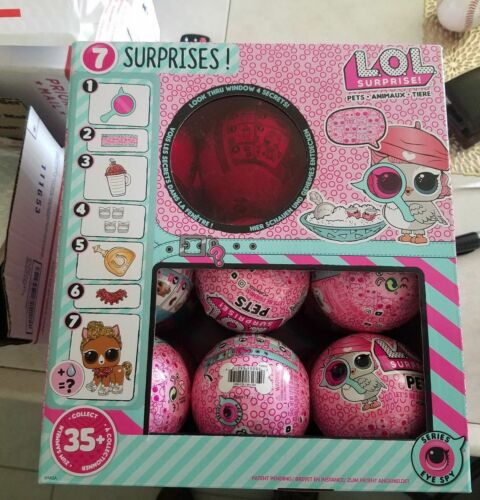 L.O.L SURPRISE PETS Series 4 EYE SPY ANIMALS BALLS Dolls LOL FULL CASE BOX 18