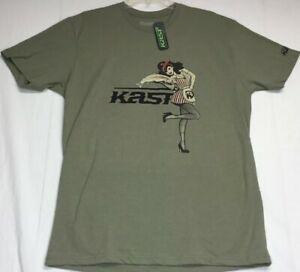 7686c42096 NWT Kast Extreme Fishing Gear T Shirt Size Large Pin Up Girl Olive ...
