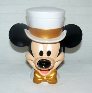 Mickey-Mouse-Drink-Cup-Top-Hat-Flip-Top-Lid-Disney-On-Ice-6-034-Plastic-Mug