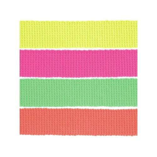 30mm Neon Webbing 100/% Acrylic Tape Craft Upholstery Straps Bag Dog