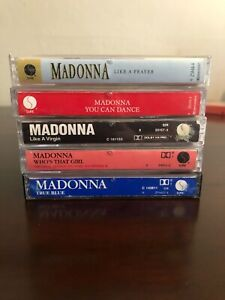 Bundle-of-Vintage-80s-Cassette-Tapes-Queen-of-Pop-Madonna