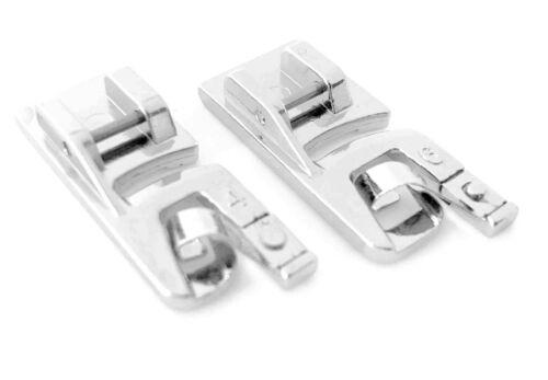 524 4mm+6mm für Necchi Nähmaschinen 559 Doppelpack 270 Rollsaumfuß Nähfuß