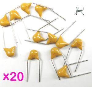 100nF-0-1uF-50V-20-Stueck-104-Miniatur-Multilayer-Keramikkondensator