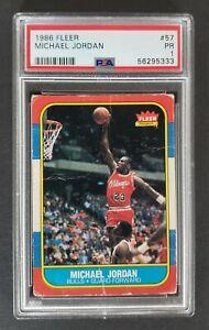 1986 Fleer Basketball #57 Michael Jordan RC Rookie card PSA 1 PR