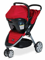 Britax 2015 B-agile Stroller & B-safe 35 Infant Car Seat Travel System In Red