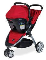 Britax 2015 B-agile Stroller & B-safe 35 Infant Car Seat Travel System In Red