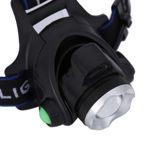 LED Telescopic Rechargeable T6 Long-range Zoom Head Miner Fishing L HG