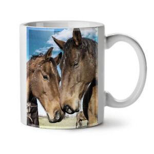 Horse Face Love Animal NEW White Tea Coffee Mug 11 oz | Wellcoda