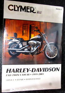 Clymer-M425-2-Motorcycle-Repair-Manual-Harley-Davidson-FXD-TWIN-CAM-88-99-03-T