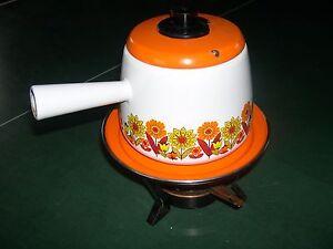 SERVICE-A-FONDUE-TOLE-EPAISSE-EMAILLE-blanc-orange