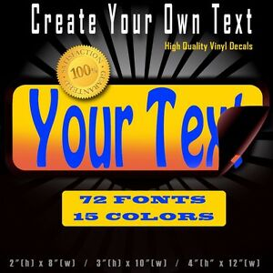 Custom Text Quote Vinyl Decal Lettering Personalized Sticker Car - Custom vinyl decals quotes beginning business