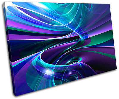 Abstract Funky Design SINGLE CANVAS WALL ART Picture Print VA