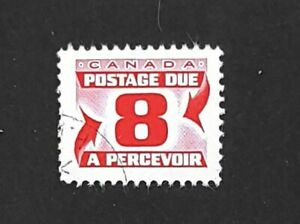 1969 Canada Postage Due Stamp J34iii VF used! HB paper, 24 x 20 1/2