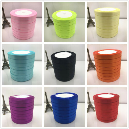 10mm 15mm 20mm 25mm width 25 Yards Wedding Satin Ribbon Craft hair Bows 20 Color