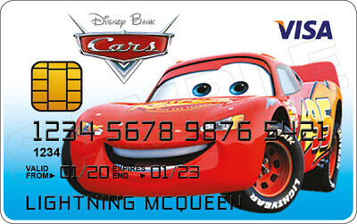 Lightning McQueen-Cars Novelty Plastique Carte de Crédit