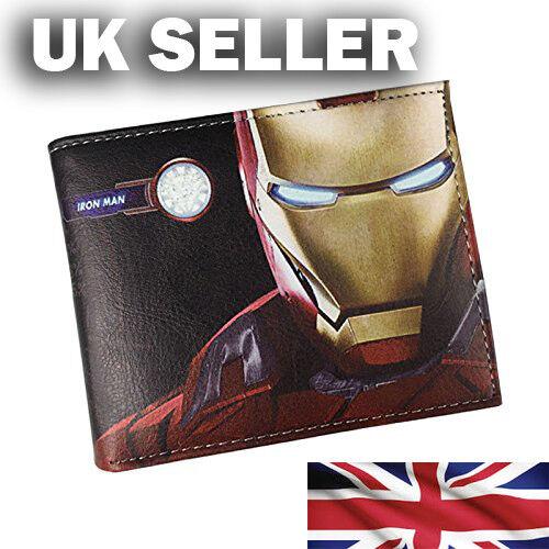 NUOVO Marvel Iron Man Avengers Faux Leather Wallet venditore UK veloce spedizione!