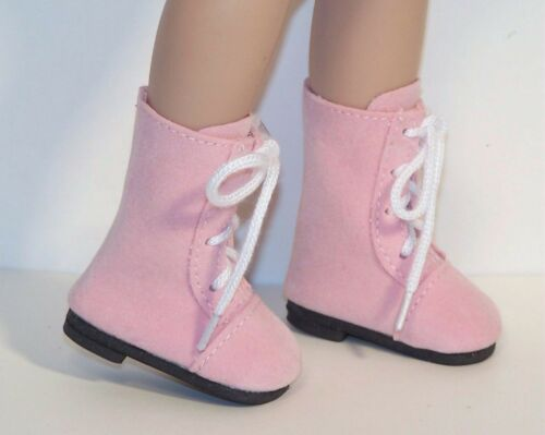 PINK Faux Suede LaceUp Lace Up Boots Doll Shoes For Tonner 14 Betsy McCall Debs