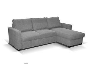Image Is Loading Corner Sofa Bed Storage Grey Dark Beige Fabric