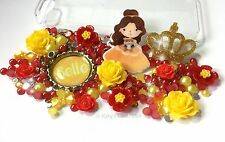 Belle Princess Character Decoden Kit With Flower Cabochons, Crown, Pearls Gems