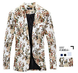547a2ba4d Mens Boys Leisure Printed Floral Blazes Fashion Designer Jackets ...
