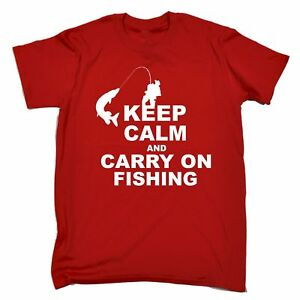Keep-Calm-And-Carry-On-Fishing-MENS-T-SHIRT-Tee-funny-birthday-gift-fish-present