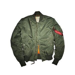 5a6a1ef5419 ALPHA INDUSTRIES MA-1 VF 59 Men s Olive Green Jacket Flight Bomber ...