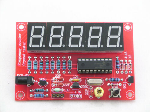 1PCS 1HZ-50MHz DDS Crystal Oscillator Frequency Counter Meter Digital LED Kit CA