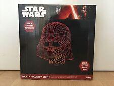 Official Disney Star Wars 3D Effect LED Light Darth Vader Red Mood Lamp