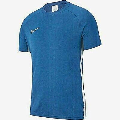 Reembolso Inconveniencia sufrir  2019 Nike Academy 19 Mens Short Sleeve Football Training T-shirt Top Marina  Blue | eBay