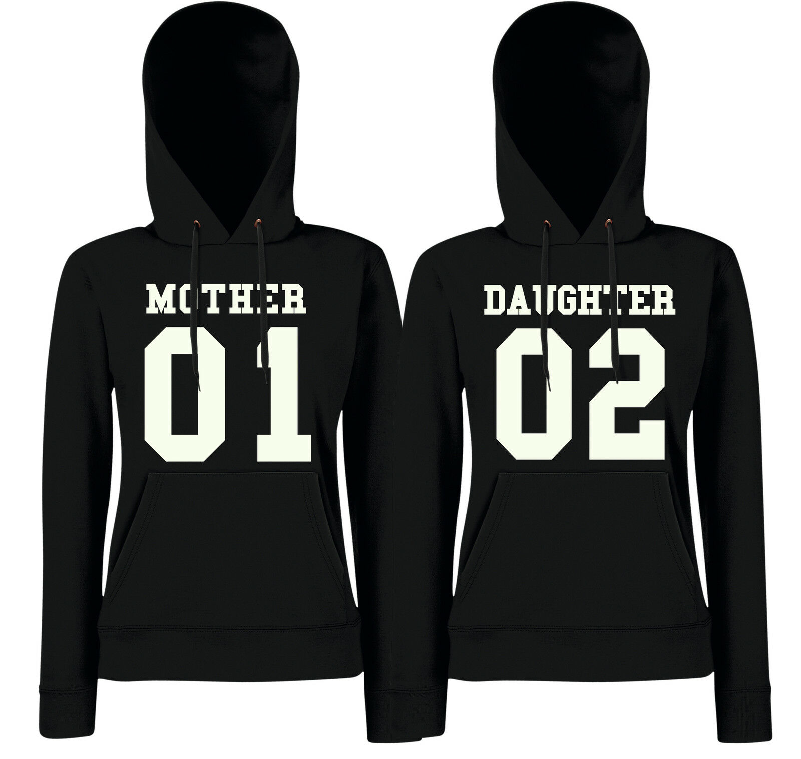 MOTHER + DAUGHTER 01 02 - Partner Hoodies - Mutter Tocher Eltern Friends Liebe