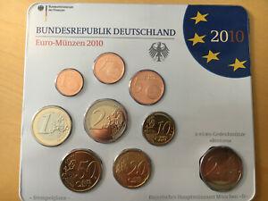 BRD KMS Kursmünzensatz Euro-Münzen 2010 Prägung D + 2 EUR Roland Bremen
