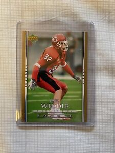 Eric Weddle 2007 Chargers Upper Deck First Edition Rookie Card RC #147 Ravens
