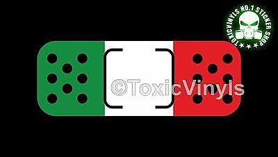 Italy band aid plaster sticker decal fiat alfa ferrari lancia plaster sticker