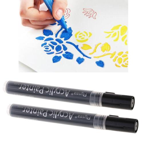 2 Stü Acrylfarbe Marker Extrafeine Spitze Paint Pens Für Felsmalerei