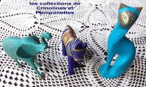 CHAT ET ELEPHANT EN LAITON PATINE+CHEVAL LOT DE 3 SUPER PROMO* JyLPIoGI-08055333-514521083
