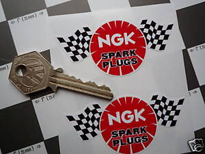 Details about NGK Spark Plugs Check/Chequered Flag style stickers 3