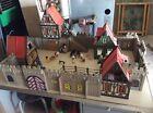 lot playmobil village medieval vintage