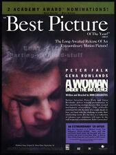 A WOMAN UNDER THE INFLUENCE__Original 1992 Print AD / movie promo__GENA ROWLANDS